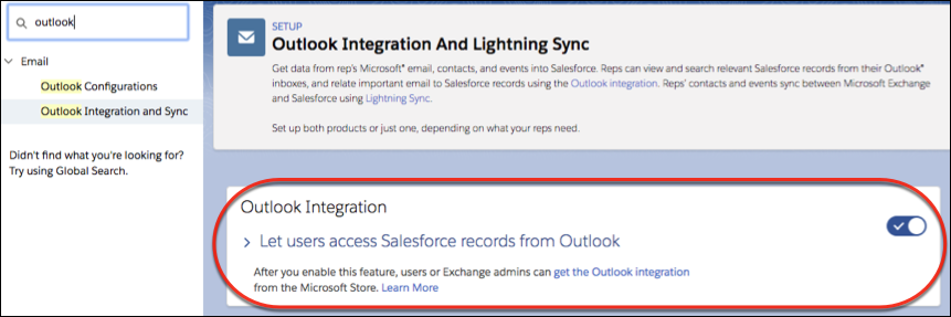Setup-outlook-integration